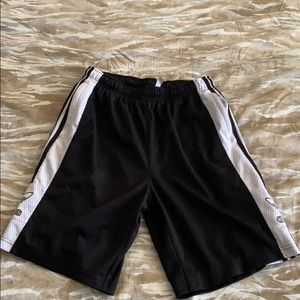 Adidas Mens Black and White Sweat Shorts